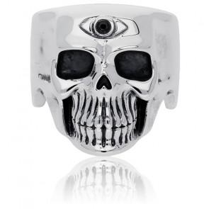 Bague skull eye zircon & argent