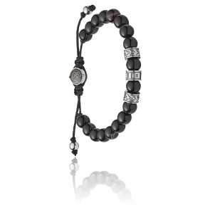 Bracelet shield perles noires, DX1101040