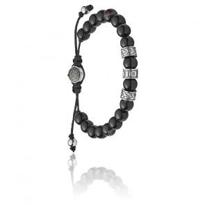 Bracelet shield perles noires, DX1101040