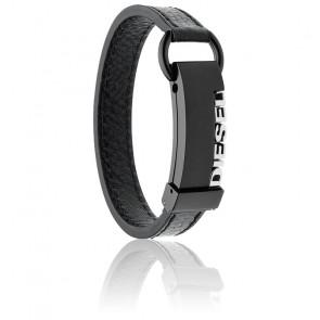 Bracelet step up cuir noir, DX0002040