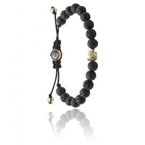Bracelet stackables pierres de lave, DX1069710