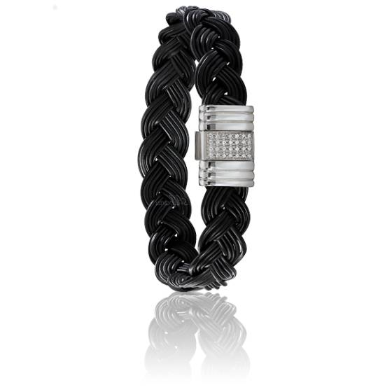 bracelet 699d el phant or blanc diamants albanu ocarat. Black Bedroom Furniture Sets. Home Design Ideas
