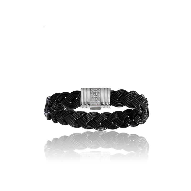 bracelet serengeti albanu 13 mm poils d 39 l phant noir et. Black Bedroom Furniture Sets. Home Design Ideas