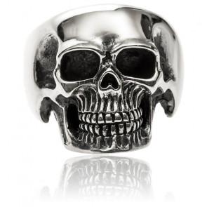 Bague Argent Tête de mort pure skull