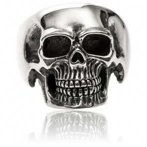 Bague tête de mort pure skull argent