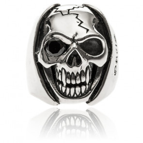 Bague tête de mort big skull argent