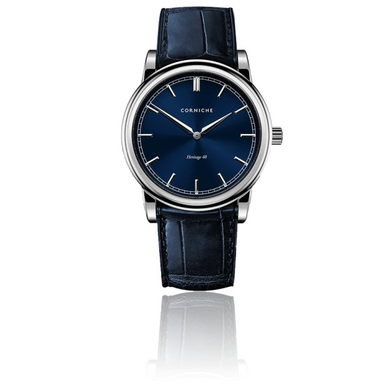 Montre Heritage 40 Stainless Steel / Blue Dial