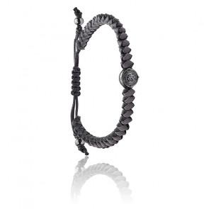 Bracelet stackables fils tressés gris, DX1065060