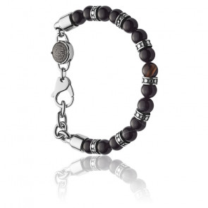 Bracelet studs perles noires, DX1163040