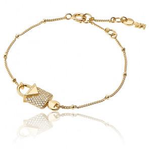 Bracelet Cadenas Pavé & Plaqué Or Jaune 14K