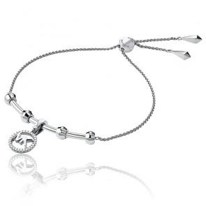 Bracelet Coulissant MK Plaqué Rhodium