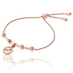 Bracelet Coulissant MK Plaqué Or Rose 14K