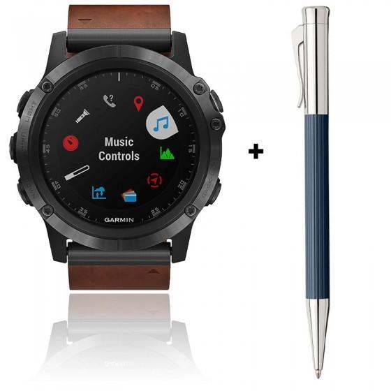 Offre : montre Fēnix 5X Plus 010-01989-03 et stylo 141583