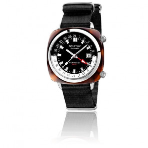 Montre Clubmaster GMT Traveler 19842.SA.T.1.NB