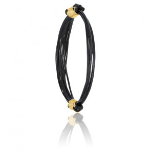 Bracelet poils d'éléphant & fermoir BR or jaune