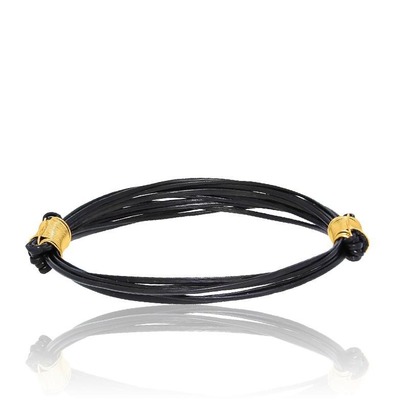 bracelet poils d 39 l phant fermoir br or jaune albanu. Black Bedroom Furniture Sets. Home Design Ideas