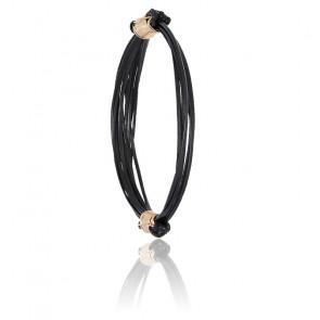 Bracelet poils d'éléphant & fermoir BR or rose