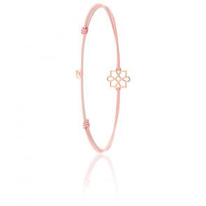 Bracelet Cordon Harmonie Or Rose 9K