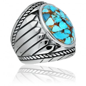 Bague argent turquoise indiana