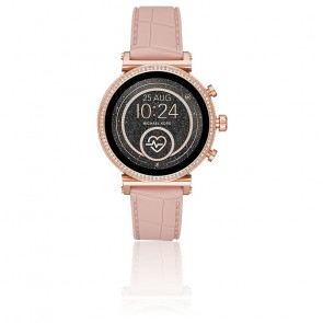 Montre Connectée Sofie Heart Rate Silicone Doré Relief MKT5068
