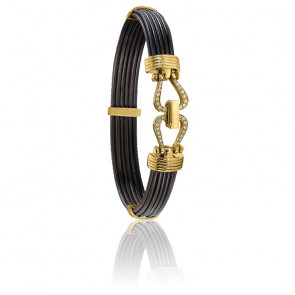 Bracelet 730D poils d'éléphant diamants & or jaune