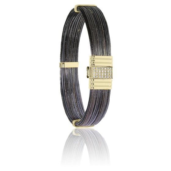 bracelet 696d diamants or jaune albanu ocarat. Black Bedroom Furniture Sets. Home Design Ideas
