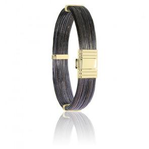 Bracelet 696 Poils Éléphant & Or Jaune 18K