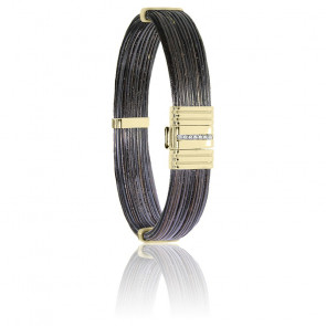 Bracelet 696 Poils Éléphant, Diamants & Or Jaune 18K