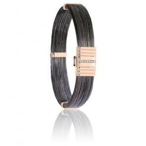 Bracelet 696 Poils Éléphant, Diamants & Or Rose 18K