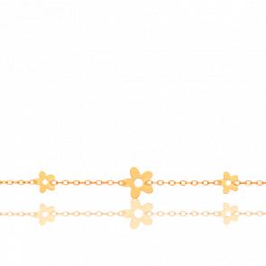 Bracelet Floral Or Jaune