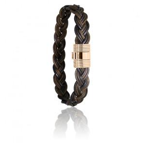 Bracelet 606 Poils Éléphant Tressés & Or Rose 18K