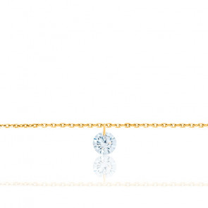 Bracelet Diamant Percé Brillant F/VS2 & Or Jaune 18K