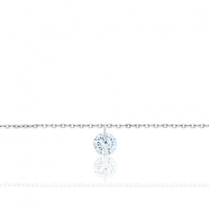 Bracelet Diamant Percé Brillant F/VS2 & Or Blanc 18K