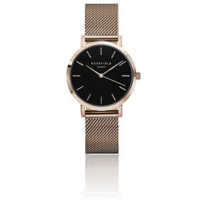 Montre The Tribeca Black Rose Gold TBR-T59