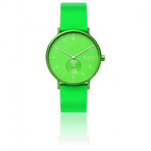 Montre Aaren Kulor Neon Green Silicone 41mm SKW6556