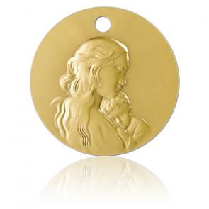 Médaille vierge Maman or jaune 18 k