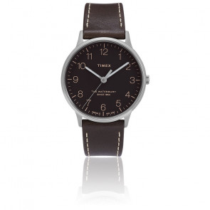Montre Waterbury Men's 40mm Black Dial Leather TW2T27700