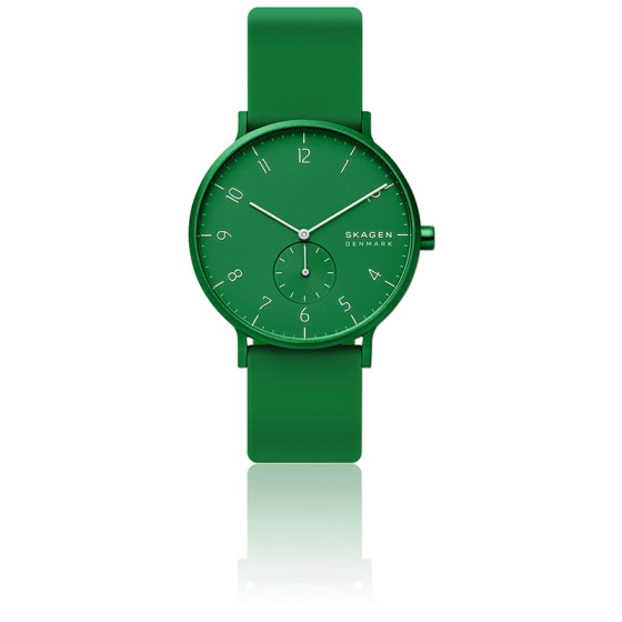 Montre Aaren Kulor Green Silicone 41mm SKW6545