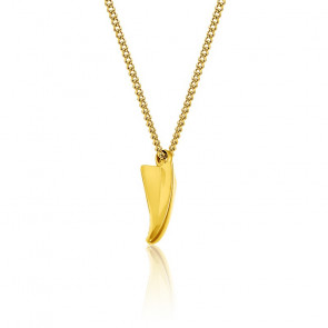 Collier tiger claw argent plaqué or jaune