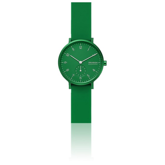 Montre Aaren Kulor Green Silicone 36mm SKW2804