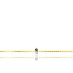 Bracelet double diamant or jaune 18K