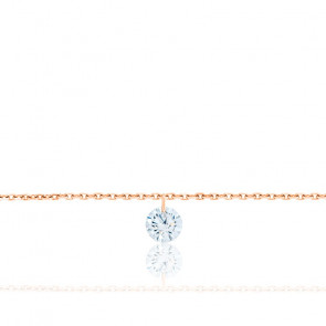 Bracelet Diamant Percé Brillant F/VS2 & Or Rose 18K