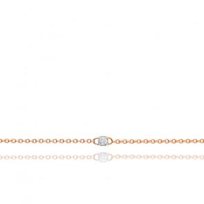 Bracelet diamant & or rose 18K