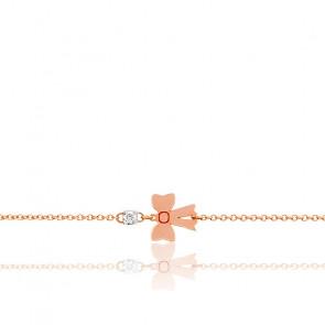 Bracelet noeud papillon diamant & or rose 18K