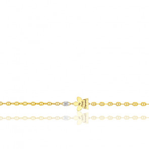Bracelet angelot diamant & or jaune 18K
