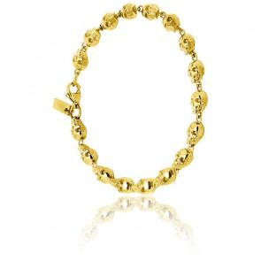 Bracelet atticus skull chain plaqué or jaune