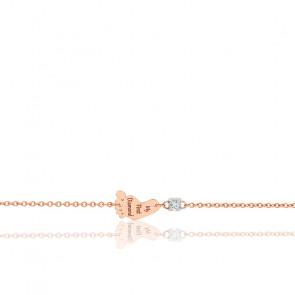 Bracelet pied diamant & or rose 18K
