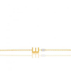Bracelet lettre E diamant & or jaune 18K