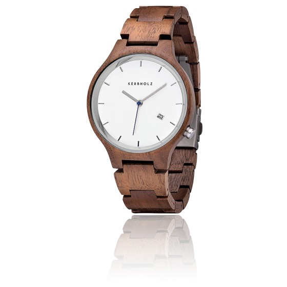 Montre Lamprecht Date Walnut/Silver