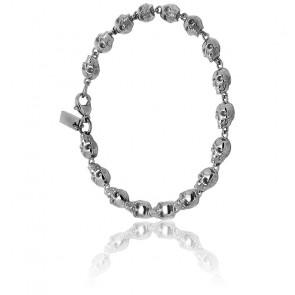 Bracelet atticus skull chain plaqué argent